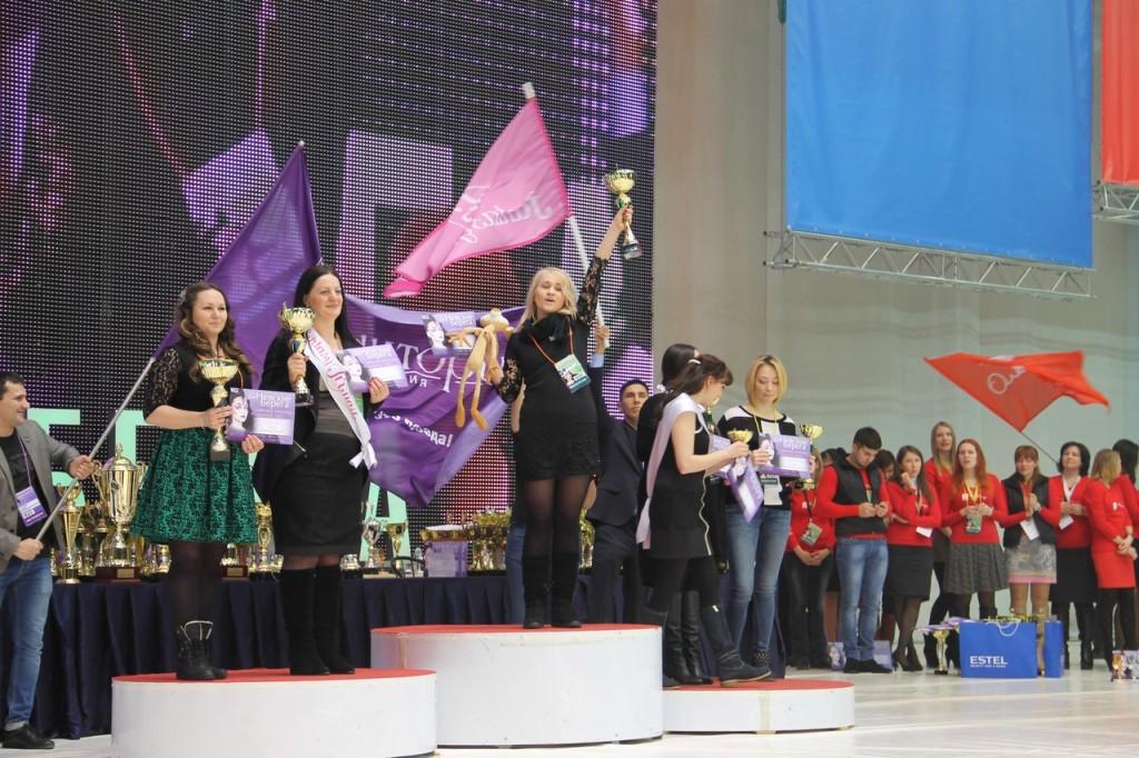 Наталья Плескачева на пьедестале почета